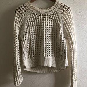 Rebecca Taylor White top-lattice sweater